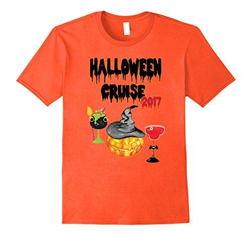 Mens Halloween Cruise 2017 T-Shirt-Pumpkins and Cocktails Shirt XL (Halloween Cruises)