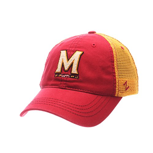Zephyr NCAA Maryland Terrapins Men's Springtime Relaxed Cap, Adjustable, Red