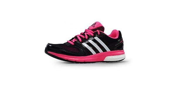 Adidas Questar Boost para Mujer de Color Negro/Rosa - 40 2/3 EU: Amazon.es: Zapatos y complementos