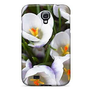 Tpu Case Cover Compatible For Galaxy S4/ Hot Case/ The White Crocus