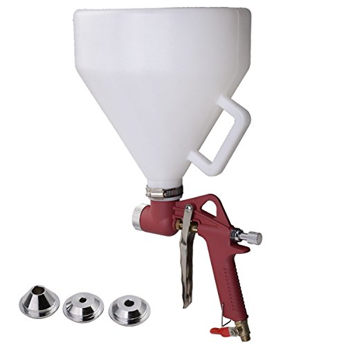NEW Air Hopper Spray Gun Paint Texture Tool Drywall Wall Painting Sprayer w/3 Nozzle