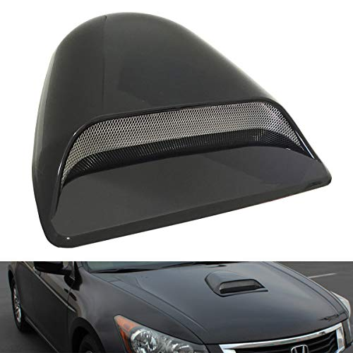 CK Formula Universal Decorative Hood Scoop Dark Smoke Black Waterproof Air Flow Intake Vent Cover for Vehicle Car Auto (Genesis Coupe Hood Vents)