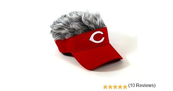 9e2d1402787 MLB Atlanta Braves Flair Hair Adjustable Visor