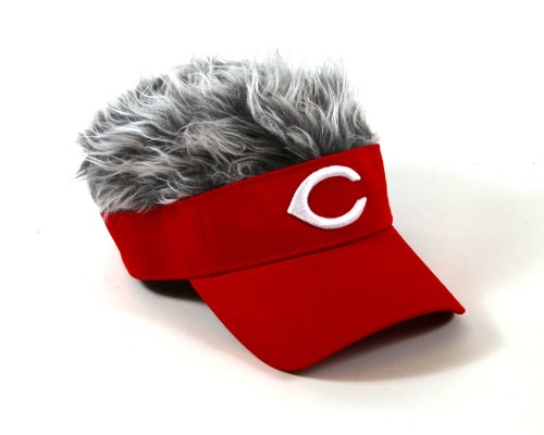 mlb-cincinnati-reds-flair-hair-adjustable-visor-red