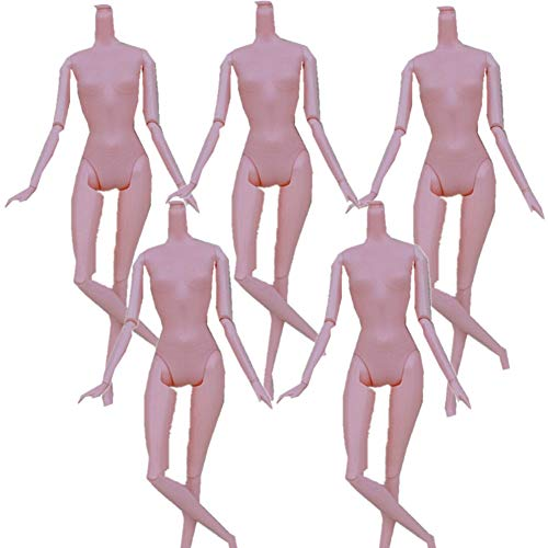 Fully 5pcs Doll DIY Accessory Girl Female Body Model Without Head (12-Joints)