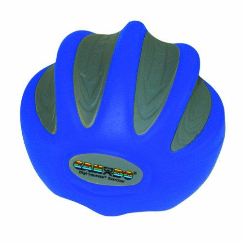 CanDo Digi-Squeeze Hand Exerciser, Blue: Heavy Resistance, L
