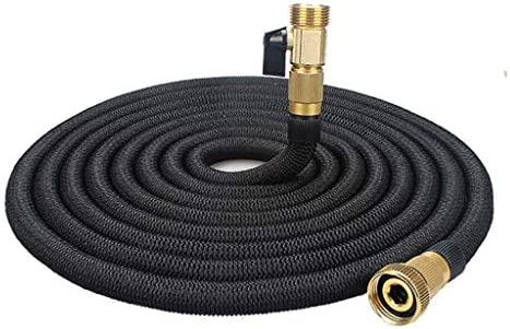 WXFQX Expandable Garden Hose Pipe 3 times expanding, with 6 Function Spray GunHose Brass Fittings Anti-leakage for Garden Home Outdoor (Size : 100FT)
