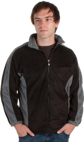 Adult Mens Two-Tone Anti-Pilling Performance Fleece Jacket - Various Color And Sizes