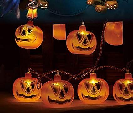 Amazon Com Myuoot Halloween Pumpkin Led Fairy Lights 10 Leds