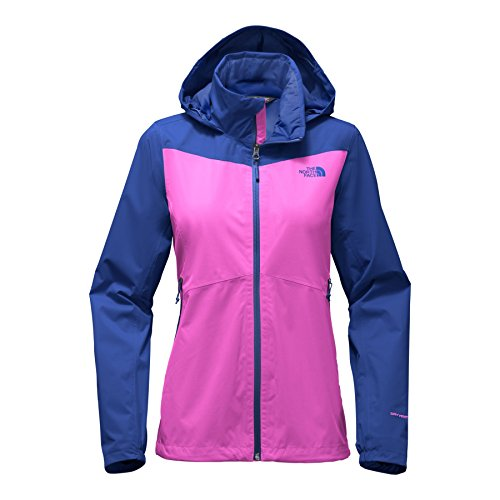 North Face Denali Jackets - The North Face Women's Resolve Plus Jacket - Violet Pink and Soda Lite Blue - L