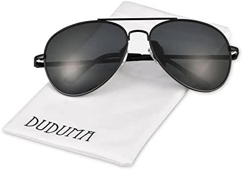 Duduma Premium Full Mirrored Aviator Sunglasses w/ Flash Mirror Lens Uv400
