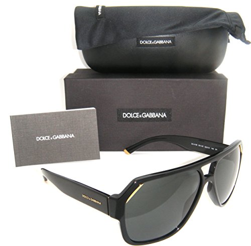 Authentic Dolce & Gabbana Shiny Black Frame / Grey Lens DG 4138 501/87 62
