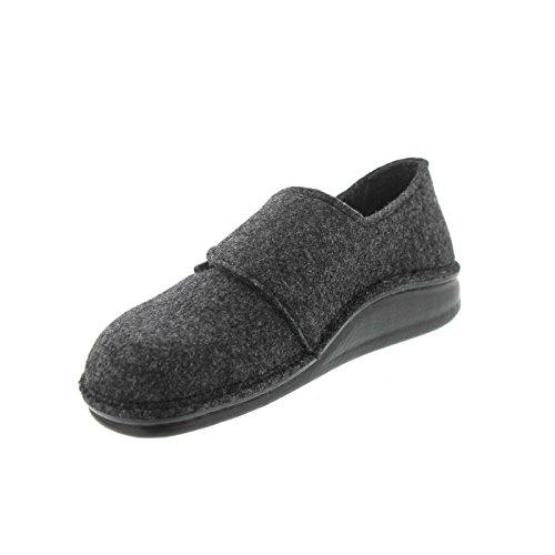 Finn Comfort, Pantofole uomo Grigio anthrazit/Wollfilz