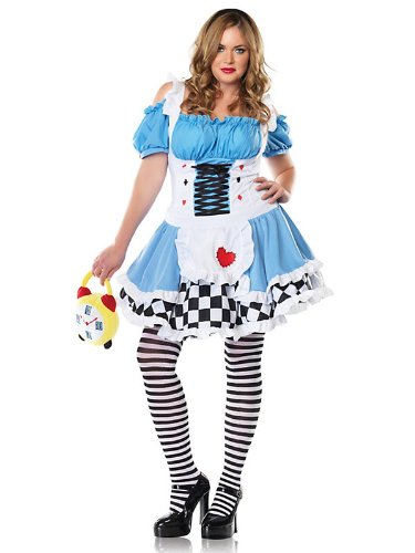 Girl In Sexy Costumes (Alice in Wonderland Sexy Women's Miss Alice Plus Costume)