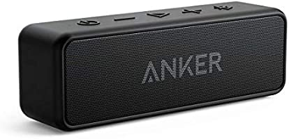 Anker Soundcore 2 Portable Bluetooth Speaker with Superior Stereo Sound, BassUp Technology, 12-Watts, IPX5 Water-Resistant Shower Speaker, 24-Hour Playtime, Wireless Speaker for Home,Outdoors,Travel