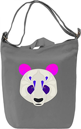 Painted Panda Borsa Giornaliera Canvas Canvas Day Bag| 100% Premium Cotton Canvas| DTG Printing|