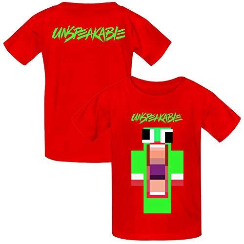VOPSKJ14 Unspeakable Youth Cotton T-Shirts Unisex Child Short Sleeve Tee  Shirt Red M