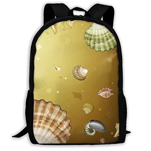 Webb Backpack Briefcase Laptop Travel Hiking School Bags Sea Shells Stylish Daypacks Shoulder Bag
