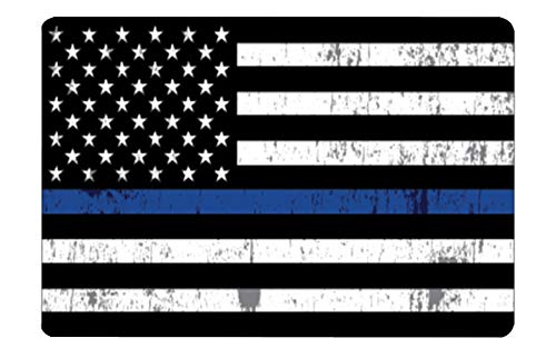 Rogue River Tactical Thin Blue Line Flag Gun Cleaning Mat Bench Pad Gift for Police Officer Law Enforcement