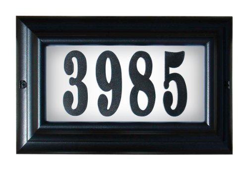 Qualarc LTL-1301-LED-BL-PN Edgewood Large Aluminum Lighted Address Plaque with LED Lights