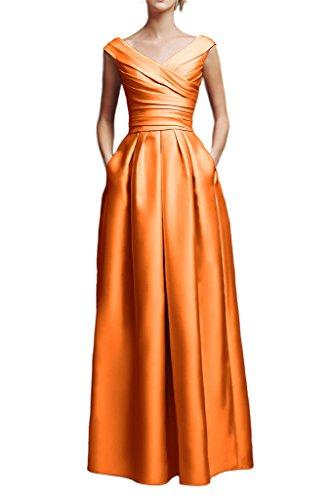 Missdressy - Vestido - trapecio - para mujer naranja 50