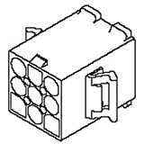 Standard .093'' Series 6.7mm Pitch 6 Way2 Row Male Straight PCB Housing 3191, Pack of 100