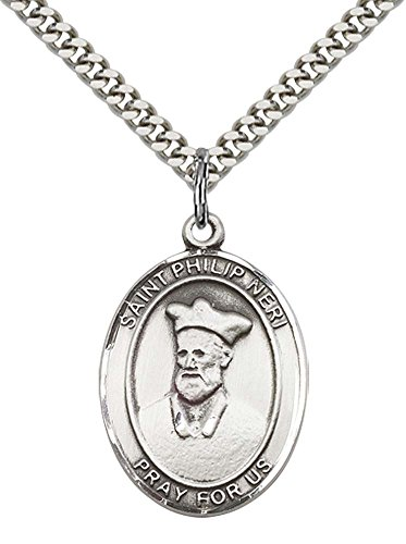 Philip Neri Pendant - Sterling Silver St. Philip Neri Pendant with 24