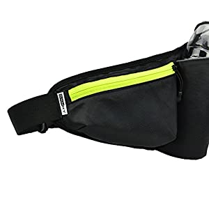 Top Fit Running Hydration Belt, Holds all IPhones + Accessories, Completely Comfortable Hydration Belt for Trail Running or Hiking. (BOTTLES NOT INCLUDED)! From SNHNY (Green)