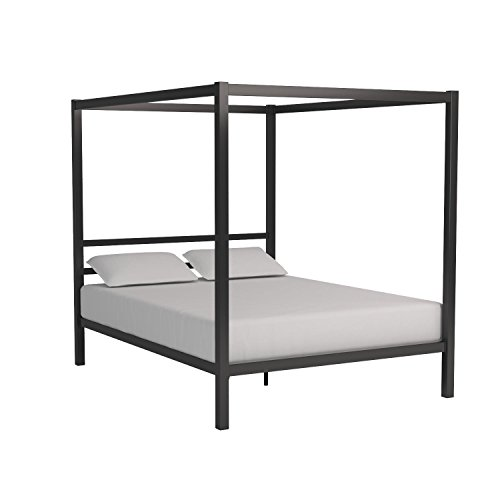 4586e2c85a02 DHP Modern Canopy Bed Frame, Classic Design, Queen Size, Grey - Buy ...