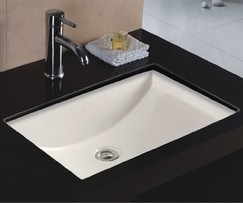 Wells Sinkware Rectangular Vitreous Ceramic Lavatory Single Bowl Undermount Bisque 22 x 16 x 6