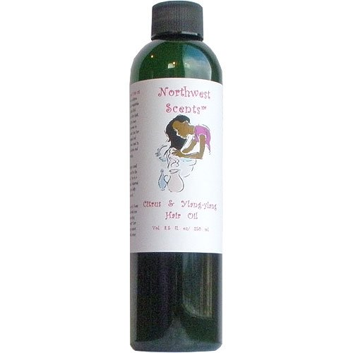 Northwest Scents Citrus and Ylang-ylang Hair Oil for Black, African American, Afro Caribbean, Dry, Coarse, and Highly Textured Hair - 8.5 oz bottle