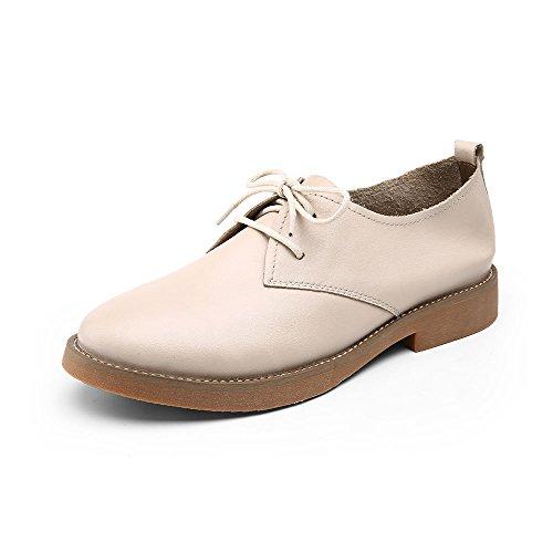 Zapatos beige con cordones para mujer PASSs3
