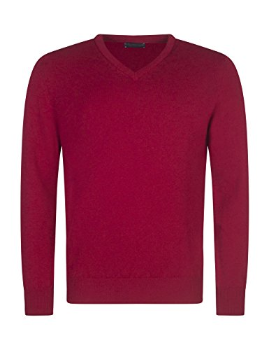 (Great & British Knitwear Men's HM100 100% Lambswool V Neck Sweater. Made in Scotland-Tapestry-Medium)