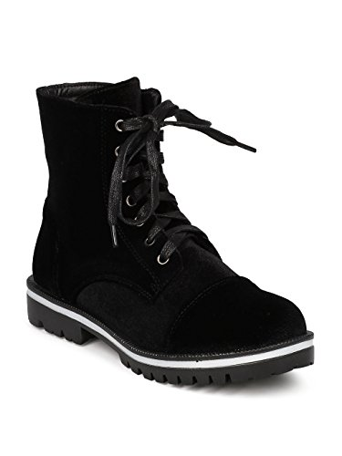 Casual GF86 Boot CAPE Velvet Bootie All Velvet ROBBIN Trendy Everyday Combat Women Black Weather PXXqgZ7w