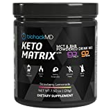 Keto Matrix Keto Supplement – Exogenous Ketones BHB Salts + MCT Oil Powder – Beta Hydroxybutyrate + C8 & C10 Medium Chain Triglycerides – Formulated by Dr. John Limansky MD, The Keto Dr™