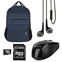 VanGoddy Bonni Collection Laptop Backpack for Asus 13.3 to 15.6-inch Laptops + 16GB Memory Card + USB Mouse + Headphones (Navy Blue)