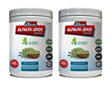 Immune System for Adults - Alfalfa Juice Powder - Organic Dietary Supplement - Alfalfa Vitamins - 2 Cans 16 OZ (100 Servings)