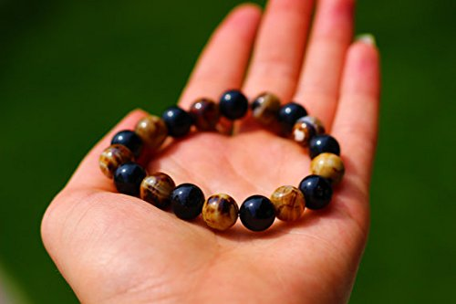 AGATE+nero AGATE  donna natural gemstone stretch mala bracelet 10mm beads yoga mantra bracelet