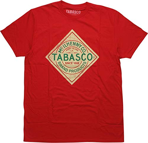 - Tabasco Hot Sauce Logo T-Shirt Vintage Red, Small