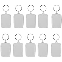 OULII Blank Photo Keychain Keyring Rectangle 4x5.6cm 10pcs