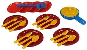 Klein 9225 - Juego de platos y cubiertos de juguete