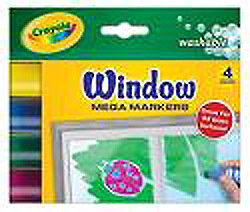Art Supplies 8166 Fx Mega Window Markers44; Washable - 4 Pack