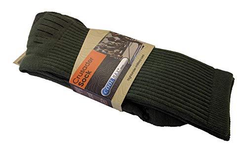 Chaussettes Crusader Coolmax Vertes - Highlander - Vert - #096A09 - L 2