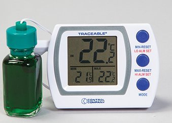 Quality IZ, Calibrated Traceable Refrigerator or Freezer & Room Temp Thermometer by TRACEABLE