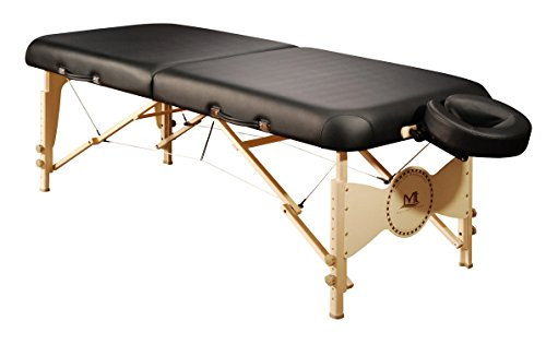 Mt Massage Midas-Plus 30'' Professional Portable Massage Table Package with Reiki Panel(Black)