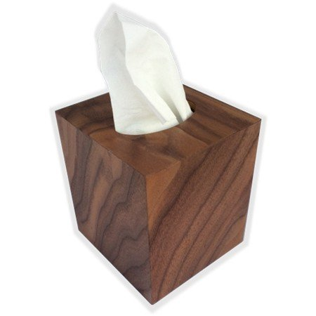 Tissue Box Cover In American Walnut