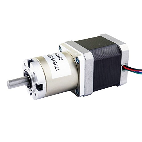 51 1 planetary gearbox high torque nema 17 stepper motor for Stepper motor gear box
