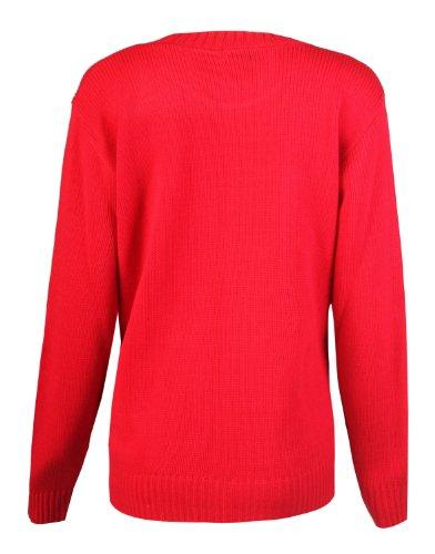 Fast Fashion - Cavalier Oiseau Passereau Impression - Femme (EUR (40-42), Rouge)