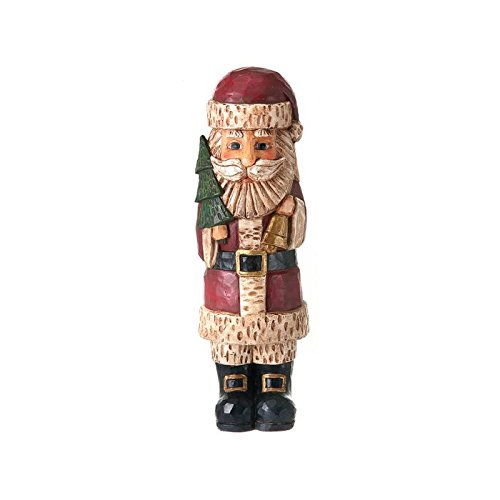 Antique Santa (Antique Style Carved Santa Holding a Christmas Tree)