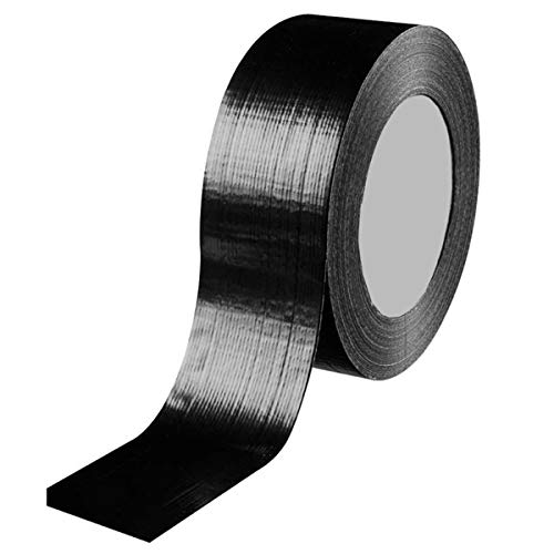 Yuniroom Fabric Tape- Adhesive Thickened Strong Waterproof Cloth Tape Black Self Repair Tapes Easy to Peel Off No Residual ()